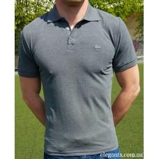 Серая мужская футболка - поло LACOSTE (FRANCE), купить рубашки на сайте супермаркета - интернет магазин одежды «Элегант» Сумы (Украина) - каталог одежды Лакост (Франция) коллекции моды (смотреть онлайн видео и фото девушки топ модели)