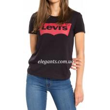 Женская футболка Levi's (USA) черная, купить на сайте супермаркета - интернет магазин одежды и нижнего белья «Элегант» в Сумах (Украина) - каталог одежды Levi's коллекции моды (смотреть онлайн бесплатно видео и фото девушки топ модели)
