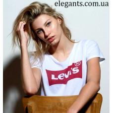 Белая женская футболка Levi's (USA), купить на сайте супермаркета - интернет магазин одежды и нижнего белья «Элегант» в Сумах (Украина) - каталог одежды Levi's коллекции моды (смотреть онлайн бесплатно видео и фото девушки топ модели)