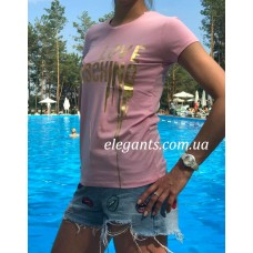 Где купить женскую футболку MOSCHINO (ITALY) розового цвета? Заказывайте на сайте интернет магазина одежды «Элегант» Сумы (Украина) - каталог одежды Москино (Италия) коллекции моды (смотреть онлайн видео и фото девушки топ модели)