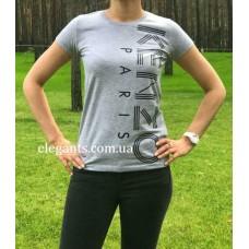 Женская футболка KENZO серого цвета купить, на сайте супермаркета - интернет магазин одежды и нижнего белья «Элегант» Сумы (Украина) - каталог женской одежды коллекции моды (смотреть онлайн бесплатно видео и фото девушки топ модели)