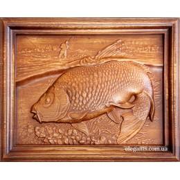 "Картина из дерева ""Рыба"""