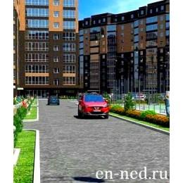 """Недвижимость новостройки ЖК """"Набережный квартал"""" 1 ком квартира Тип 4"""