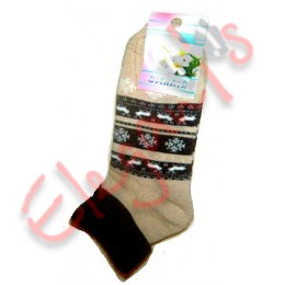 Женские теплые махровые носки