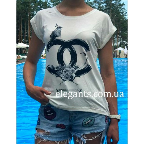 a99a34f56d1f Белая женская футболка CHANEL (FRANCE), купить на сайте супермаркета - интернет  магазин одежды