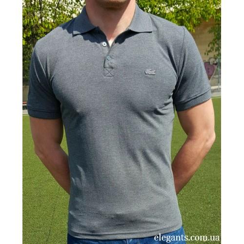 Серая мужская футболка - поло LACOSTE (FRANCE), купить рубашки на сайте  супермаркета - 5c5fb2a45bb