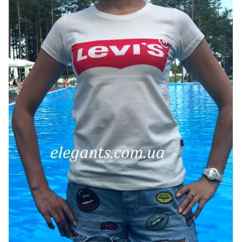 dcd14eaf725 Белая женская футболка Levi s (USA)