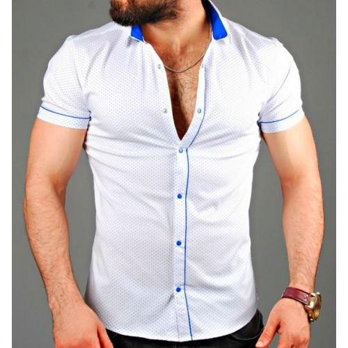 Где можно купить белую мужскую рубашку  Заказать онлайн недорого рубашки  короткий рукав dfd53c193e1f6