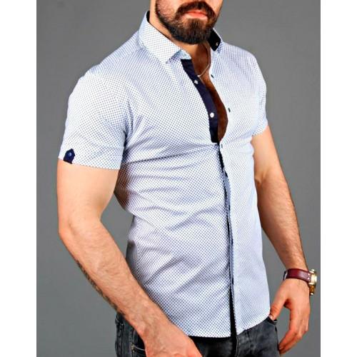 68aab6154cf0 Где можно купить мужскую белую рубашку? Заказать онлайн недорого рубашки  короткий рукав, в Сумах
